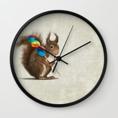 Squirrel with lollipop Wall Clock