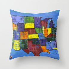 U.S.A. Throw Pillow