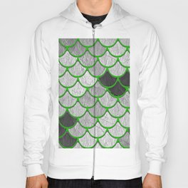 Dragon Scales with Green Outline Hoody