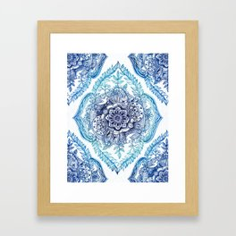 Indian Ink - in Blues Framed Art Print
