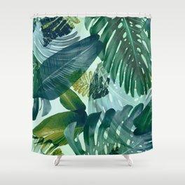 Jungles greens, banana leaf, tropical, Hawaii decor Shower Curtain