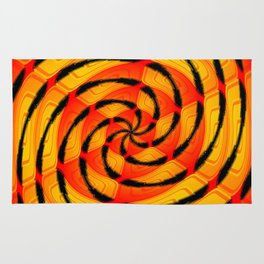 Vibrant tigerlike abstract Rug