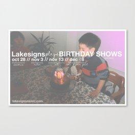 Lakesigns Poster - Birthday Tour 2011 Canvas Print