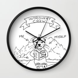 Introvert otter crew Wall Clock