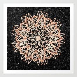 Metallic Mandala Art Print
