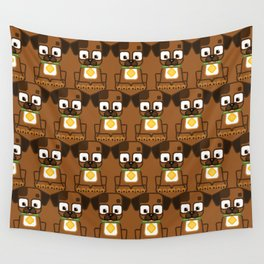 Super cute animals - Cute Brown Puppy Dog Wall Tapestry
