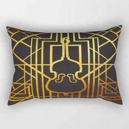 Art Deco Contrabass Rectangular Pillow