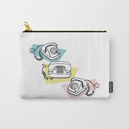 Retro phones Carry-All Pouch