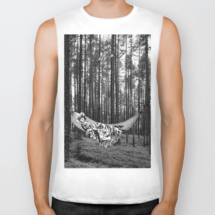 BETWEEN TREES Biker Tank