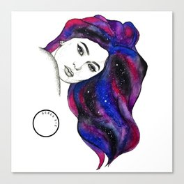 Water Colour And Pen & Ink Kylie Jenner Canvas Print