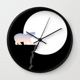 Gradient Bear Midnight Moon Wall Clock
