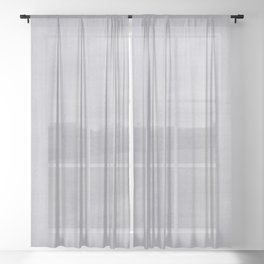 Pantone Lilac Gray Dry Brush Strokes Texture Pattern Sheer Curtain