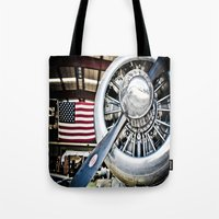 aviation Tote Bags featuring Aviation in the USA by Eye Shutter to Think Photography