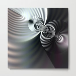 Abstract 3D striped serenity Metal Print