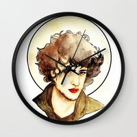 grantaire Wall Clocks featuring Grantaire by chazstity