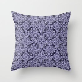 Azulejo Floral Pattern Throw Pillow