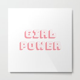 Girl Power Pink Feminism Metal Print