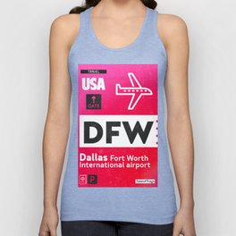 DFW RED Unisex Tank Top