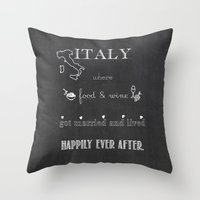 italy Throw Pillows featuring Italy by weisart
