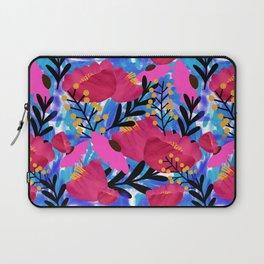 Vibrant Floral Wallpaper Laptop Sleeve