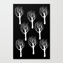 Black and White Forest Print Canvas Print