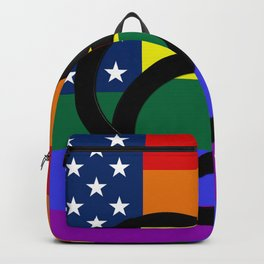USA Gay Pride Flag Backpack