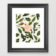 Leaves + Dots Framed Art Print