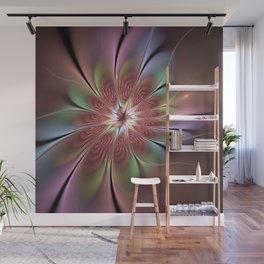 Abstract Fantasy Flower, Fractal Art Wall Mural