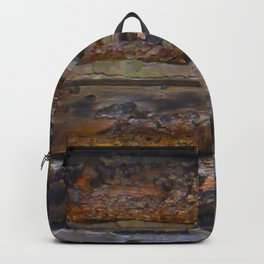 Aged Log Cabin rustic decor Backpack