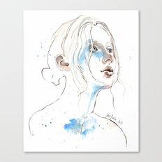 Winter 2016, watercolor Canvas Print