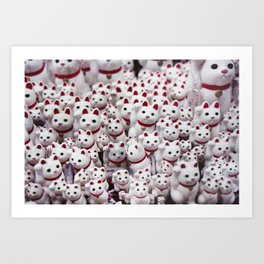 maneki neko cats Art Print