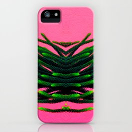 Flying green plant on pink iPhone Case