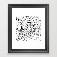 Splat Black on White Framed Art Print