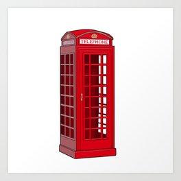 Red English Phone Booth Art Print