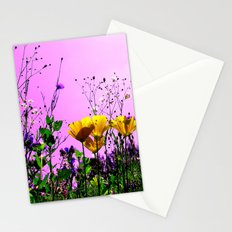 flower field abstract IX Stationery Cards