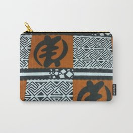 Ghanaian Gye Nyame African Print Carry-All Pouch