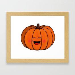 The happy pumpkin Framed Art Print