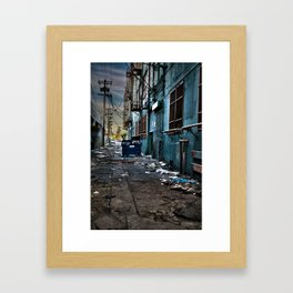Flat Trash Framed Art Print