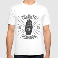 10¢ Psychic LARGE White Mens Fitted Tee
