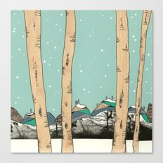 Behind the Forest Canvas Print