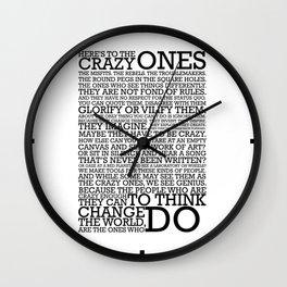Steve Jobs Quote Wall Clock
