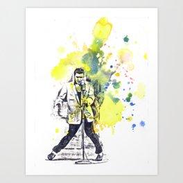 Elvis Presley Dancing Art Print