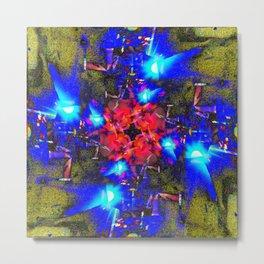 Asphalt Flower Metal Print