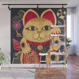 The Gold Cat Wall Mural