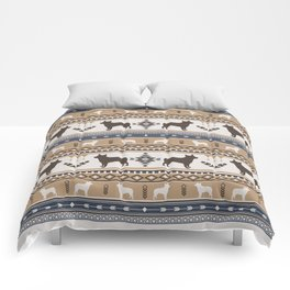 Boho dogs | Australian cattle dog tan Comforters