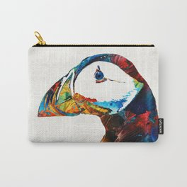 Colorful Puffin Art By Sharon Cummings Carry-All Pouch
