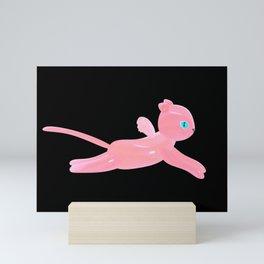 Pink cat Mini Art Print