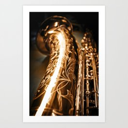 Tenor Saxophone - MIDQ01 Art Print
