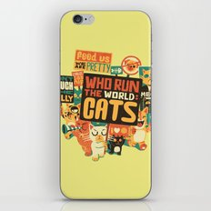 Who Run The World Cats iPhone & iPod Skin