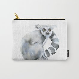 Ring-tailed Lemur Watercolor Carry-All Pouch